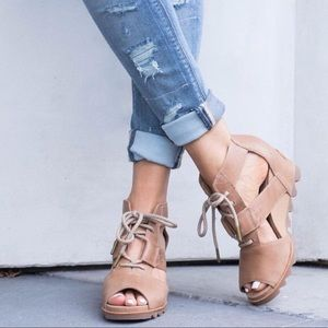 Sorel Joanie Lace Wedges